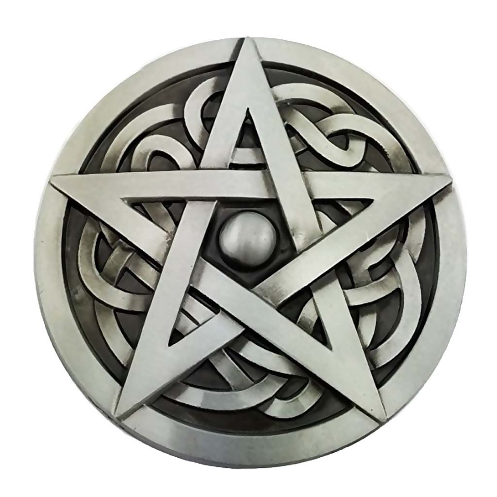 Zinc Alloy Belt Buckle Novelty Western Hexagram Fashion Clothing Jeans Jewelry For Boys Mens