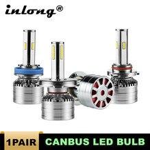 цена на 2Pcs H7 LED H4 H11 Led No Error H8 9006 HB4 9005 HB3 Auto Car Headlight Bulbs 80W 16000LM Car Accessories 6000K led fog light