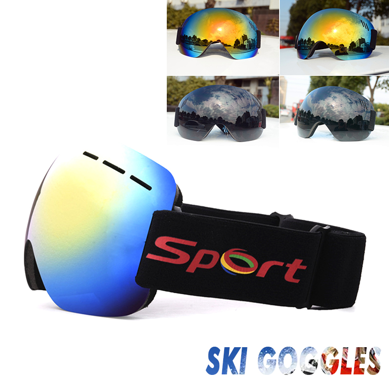 Ski Goggles Riding Cycling Game Wind Goggles UV Protection Outdoor Anti Fog Dual Lens Snowmobiling Snowboard Motion Snow
