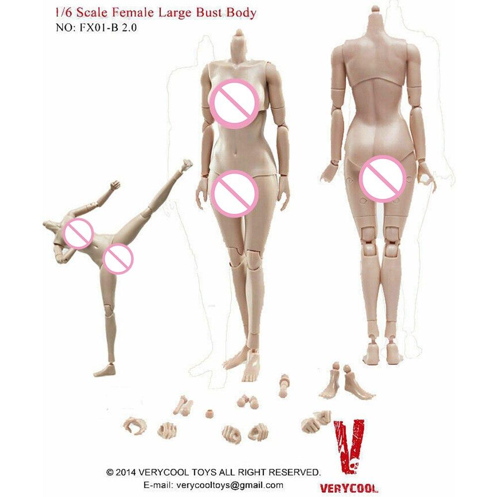 VERYCOOL FX01-B половина-pack силиконовый большой грудью женский шарнирное тело 2,0 с загар Цвет средства ухода за кожей 12 дюймов фигурка героя тела