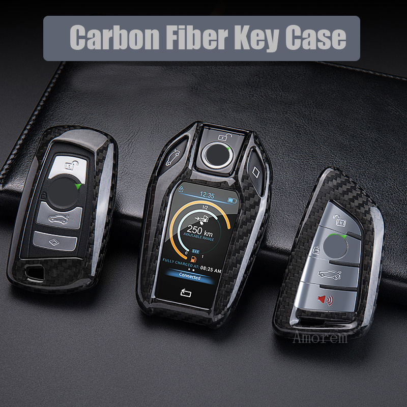 Чехол для автомобильных ключей из углеродного волокна, чехол для BMW G30 G20 G11 X3 G01 X4 G02 X5 G05 X7 G01 F30 F36 F20 F10 X5 F15 X6 F16 X1 F48