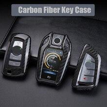 Carbon Fiber Car Key Case Cover Key Shell for BMW G30 G20 G11 X3 G01 X4 G02 X5 G05 X7 G01 F30 F36 F20 F10 X5 F15 X6 F16  X1 F48