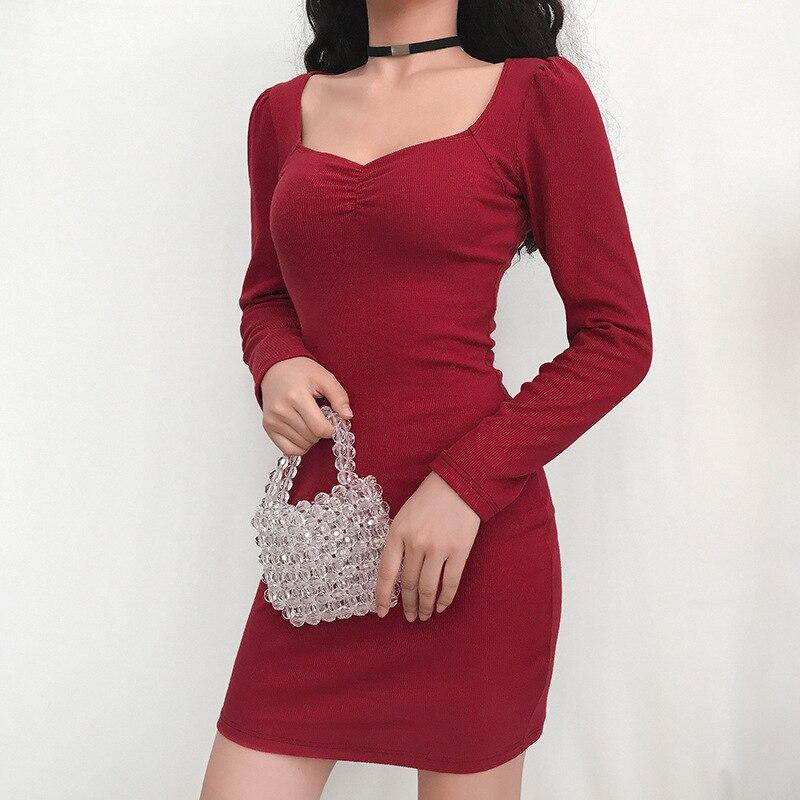 Vestido vermelho stretch, vestido feminino de malha