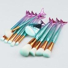 SinSo Mermaid Makeup Brushes Set 10/11pcs Professional Makeup