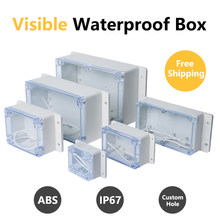 ABS Visible Wire Junction Box Waterproof Electronic Watertight Enclosure Box IP67 Transparent Safe Case Plastic Boxes Organizer