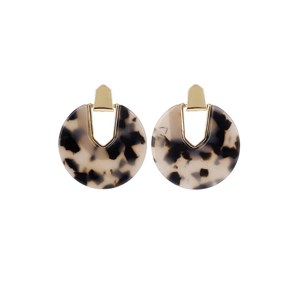 Женские леопардовые фигурные серьги ZA, висячие серьги черепаховой расцветки из акрилацетата, украшения для вечеринок - Окраска металла: 10571