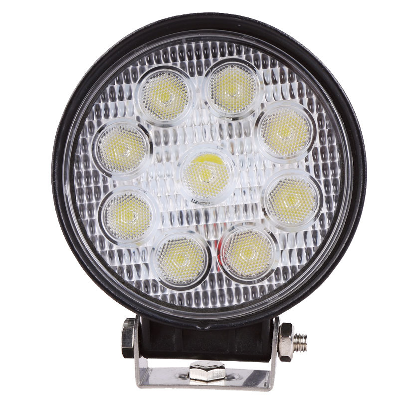 Direct Manufacturers Concentrated Round Explosion-proof 27 W LED Work Light Truck Truck Lamp Worklight
