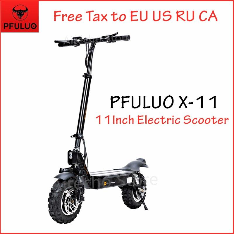 2019 nouveau PFULUO X-11 Scooter électrique intelligent 1000W moteur 11 pouces 2 roues planche à roulettes hoverboard 50 km/h vitesse maximale tout-terrain