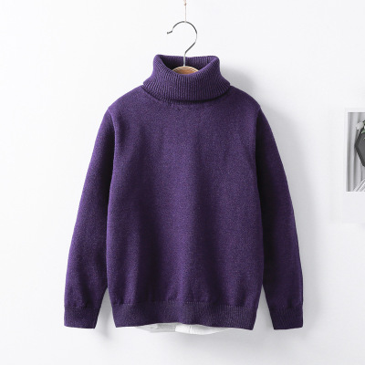 VIDMID Baby Girls boys Winter Turtleneck Sweaters Colthes Autumn Children Clothing Pullover Knitted Solid Kids Sweaters 7088 07 5
