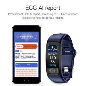 Image 4 - Jingtider P12 ECG PPG SPO2 Smart Band IP67 Waterproof Heart Rate Blood Pressure Oxygen Monitor Sport Bracelet Fitness Tracker