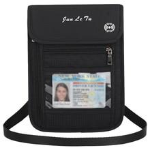 Шея чехол дорожный футляр кулон с функцией блокировки RFID Обложка для паспорта, документов Организатор сумка кошелек для карточек для Для мужчин Для женщин