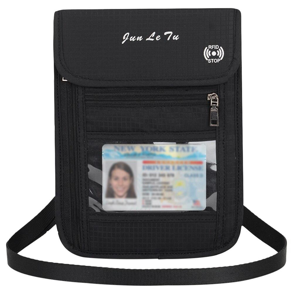 Neck Pouch Travel Pouch Neck Wallet With RFID Blocking Passport Holder Document Organizer Bag Card Bag For Men Women