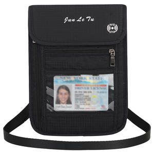 Wallet Pouch Neck with RFID Blocking Passport-Holder Document-Organizer Bag Card-Bag