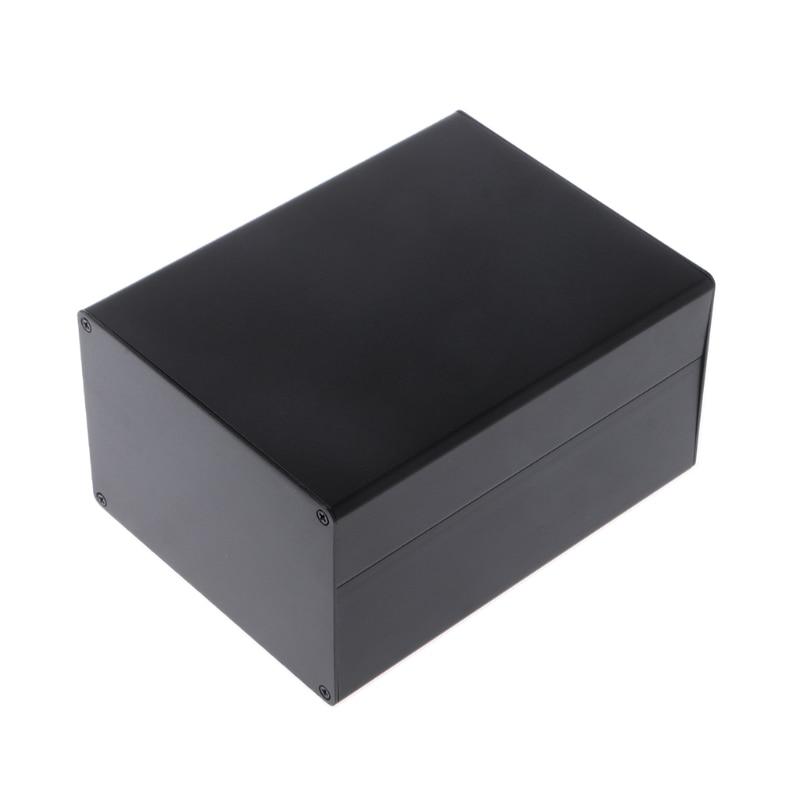 Aluminum Enclosure DIY Project Case Power Junction Box 155x120x83mm Black