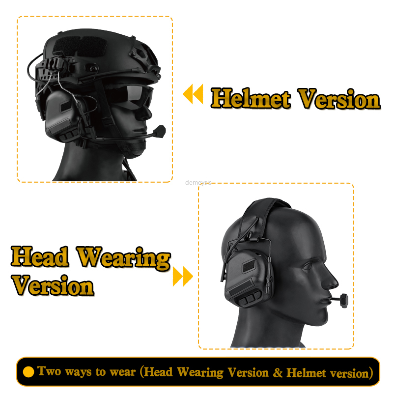 Тактическая гарнитура для шлема с быстрым адаптером для шлема, военная гарнитура для страйкбола и фотосъемки на открытом воздухе-1
