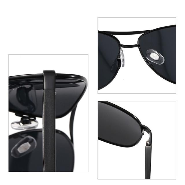 Gafas de sol de aluminio y magnesio para hombre, lentes de conducción de espejo, con revestimiento polarizado, accesorios, novedad de 2020 3