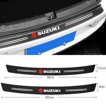 1 pçs placa de guarda tronco do carro protetor de fibra carbono adesivos para suzuki swift jimny vitara samurai grand vitara sx4 acessórios