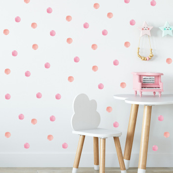 48pc Dot Wall Sticker For Kids Rooms Decoration Children Baby Nursery Wall Decals Colorful Dot Art Stickers Home Decor Wallpaper kids wall sticker stars baby nursery bedroom wall sticker for kids room children wall decals art wallpaper home decoration