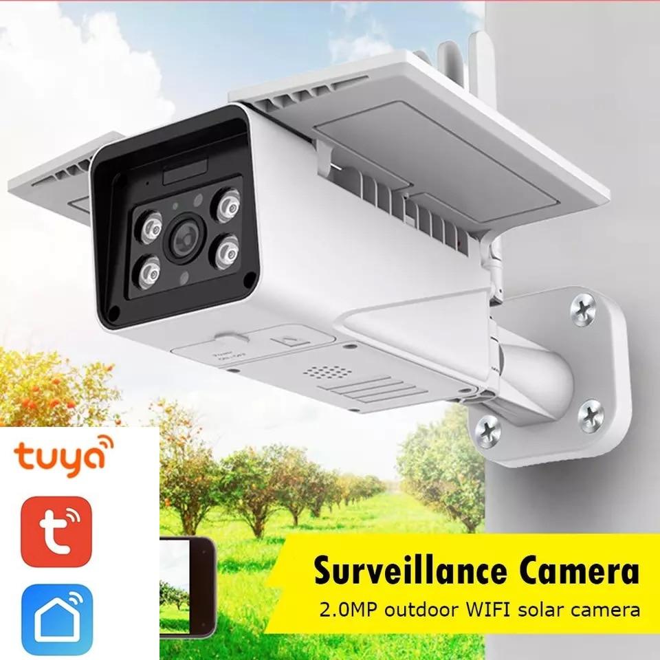 TEXOSA Tuya Solar Power Wireless 1080p IP Camera Monitor IP67 Outdoor Security WiFi Night Vision Surveillance Camera Video