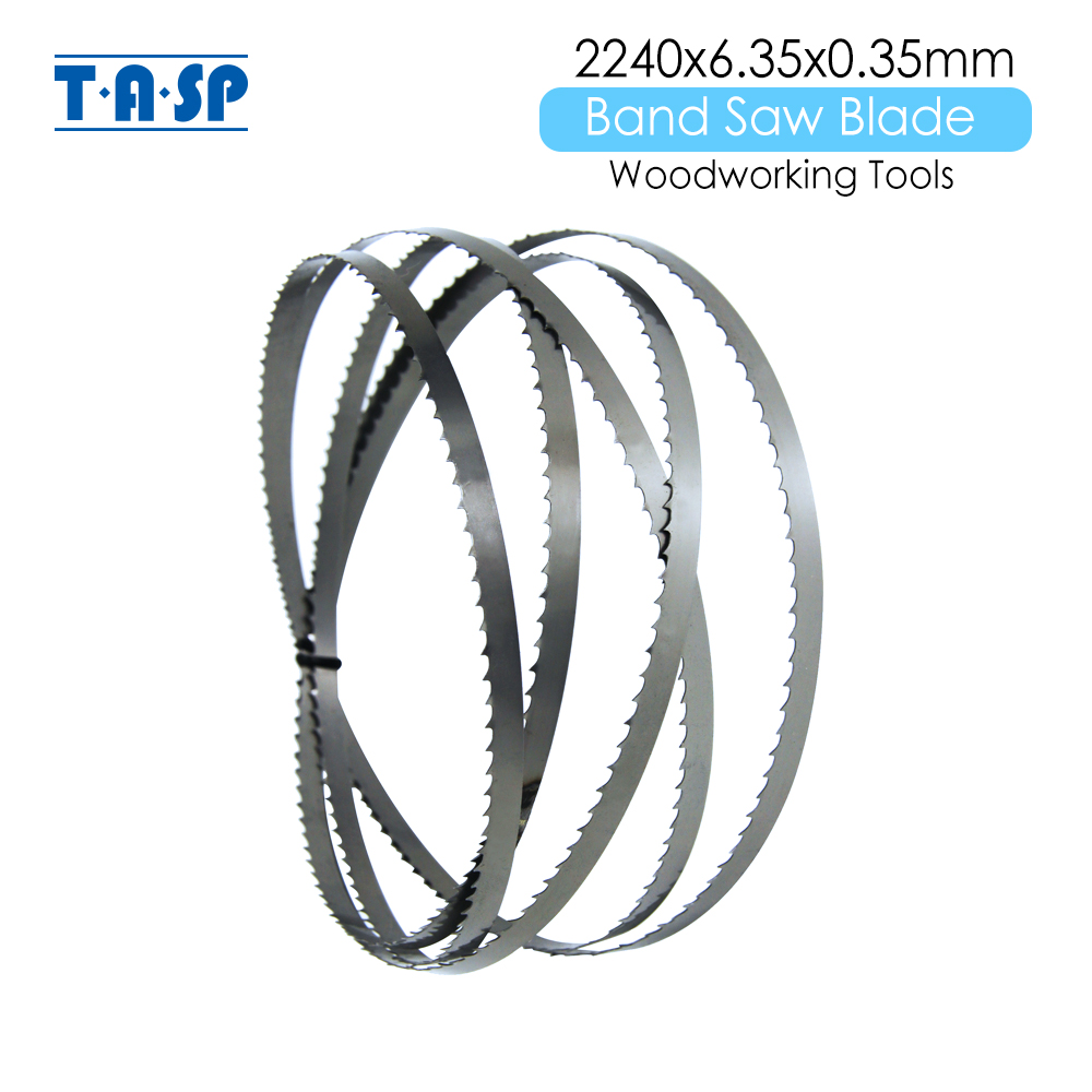 TASP 1 Piece 2240x6.35x0.35mm BandSaw Blade 88-1/4'' X 1/4'' X 6 TPI Woodworking Band Saw Blades For METABO BAS317 BAS 317