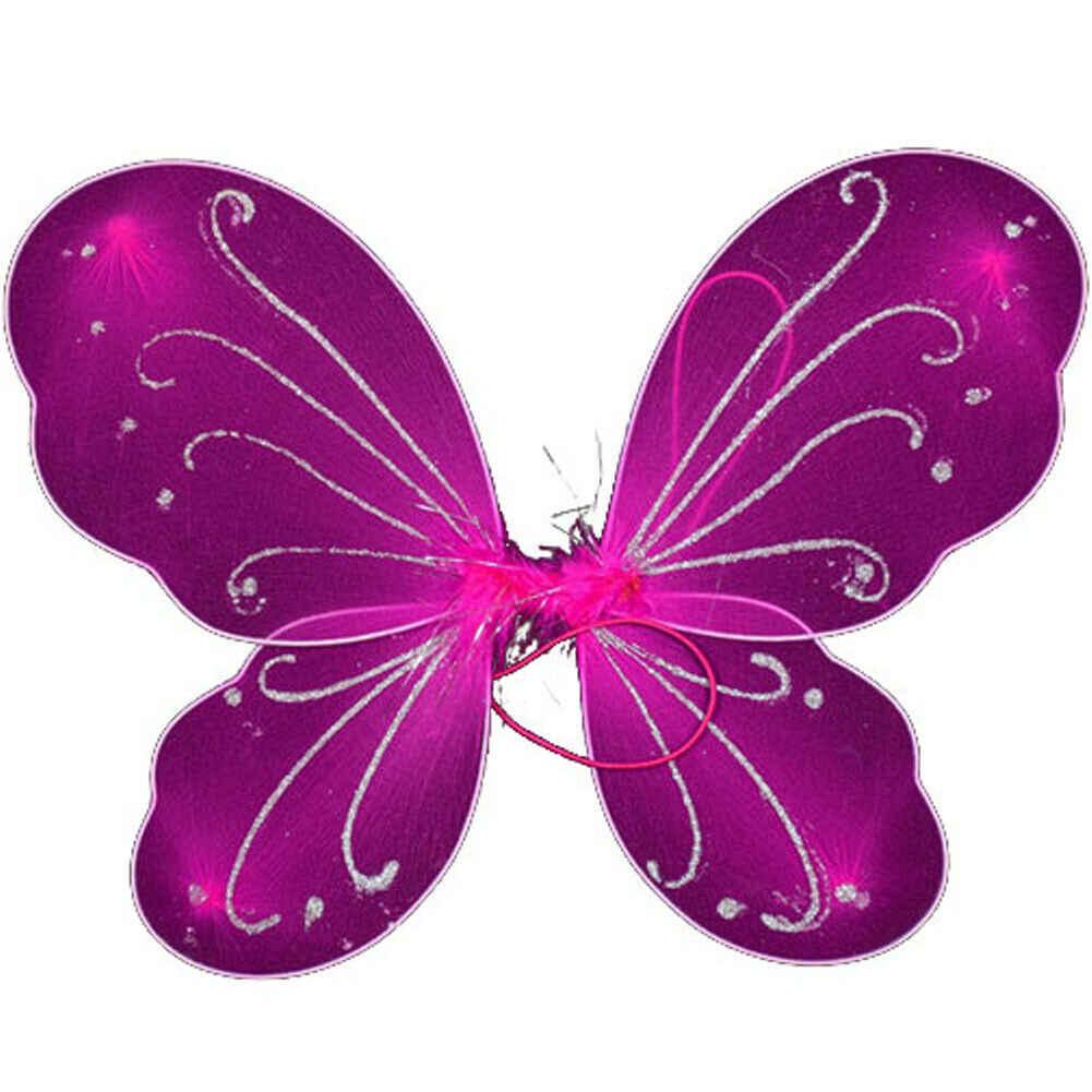 42cm adulto chico hadas Pixie ala Multicolor mariposa vestido de traje rojo verde púrpura amarillo Rosa rojo