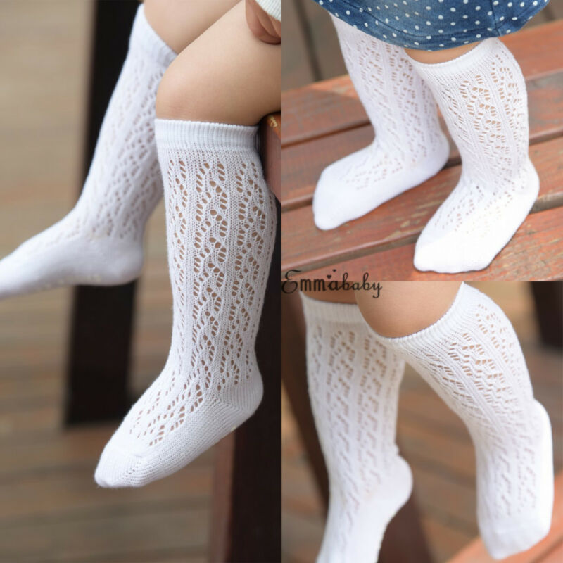 Pudcoco New Newborn Baby Infant Girl Fishnet Stockings Non-Slip Knee High Lace Thin Stockings Princess Long Tube Booties 0-4T