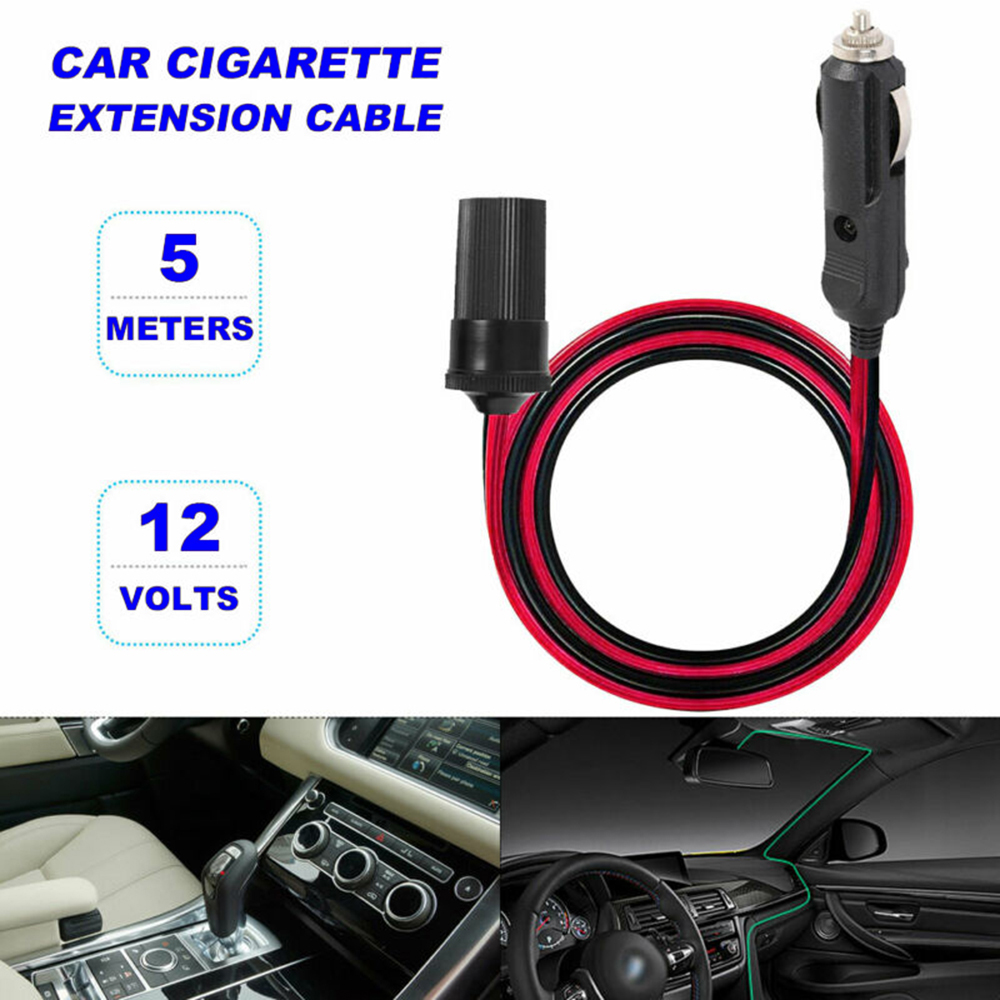 5M 12V Car Cigarette Cigar Lighter Extension Cable Adapter Socket Charger Cord Auto Accessories For Home Appliance|Battery Cables & Connectors| |  - title=