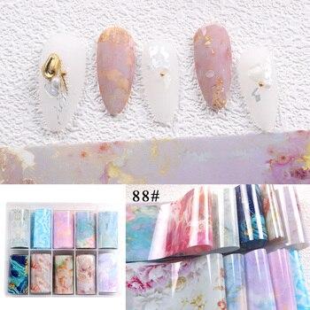 1set/lot 2.5*100cm Butterfly Spring Mix Flower Starry Sky Nail Foils set Transfer Sticker DIY Manicure Decoration Decals - 88