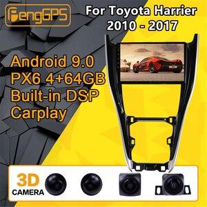 Para Toyota Herrer Android Radio 2010 - 2017 reproductor multimedia de coche estéreo PX6 Unidad de navegación GPS 360 Cámara autorradio