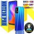 Смартфон Note 10 Pro, 4000 мАч, 4 + 64 ГБ, Android 7,0, 13 МП