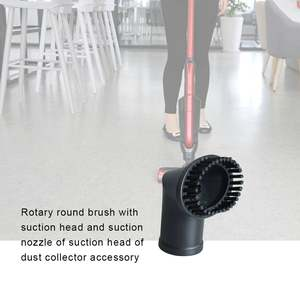 Nozzle Brush-Head Vacuum-Cleaner-Accessories Round-Brush 35mm 00666 Interface Can-Be-Rotated