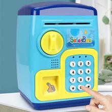 Mini Cartoon Bank Box Password Piggy Bank Smart Fingerprint Safe Storage Tank Kids Toy