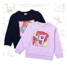 Детская одежда; сезон весна-осень; толстовка; футболка с героями мультфильмов; цветная наклейка с блестками; пальто с длинными рукавами; Хлопок; ; Качественная детская одежда