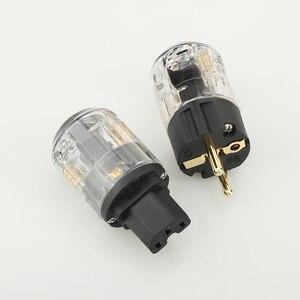 Image 5 - Pair P029E+C029 EU Power Plug IEC Female Power Connector hifi diy power cable Plug