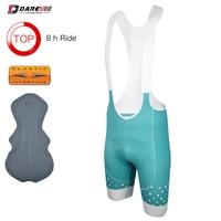 Darevie Best Pro Cycling Bib Shorts 8 Hours Riding EIT Shockproof Sponge Pad Race Bike Bib Shorts 7 cm Wide Comfortable Leg Band