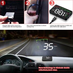 Image 5 - A100 3.5 A900 HUD Head Up ekran araba styling Hud ekran aşırı hız uyarı cam projektör Alarm sistemi evrensel otomatik