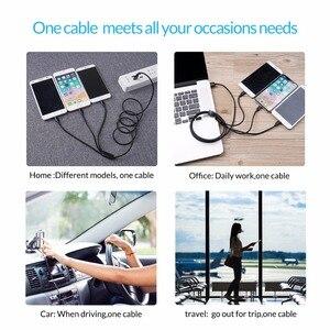 Image 4 - ORICO 3 en 1 Type C 8Pin Micro câble USB pour iPhone 8X7 6 6S Plus iOS 10 9 8 Samsung Nokia USB câbles de charge rapide cordon