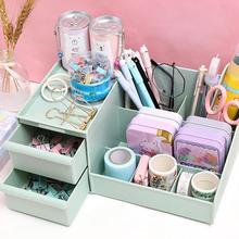 New Creative Multi-function Penholder Desktop Debris Cute case Box Desk Storage Drawer Pen Organizer Wholesale Dropshipping