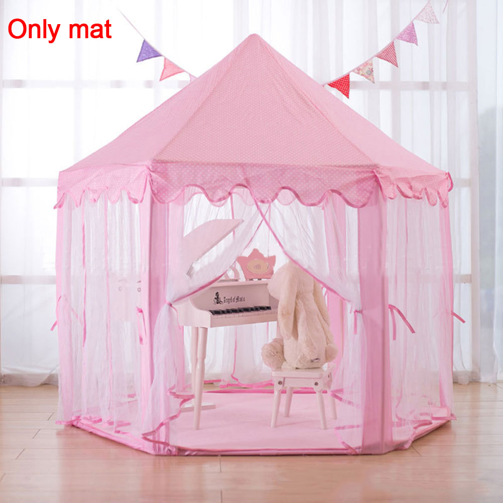 Children Hexagonal Princess Tents Matching Velvet Pad Baby Game Blanket Pad Climbing Mat (Only Mat)