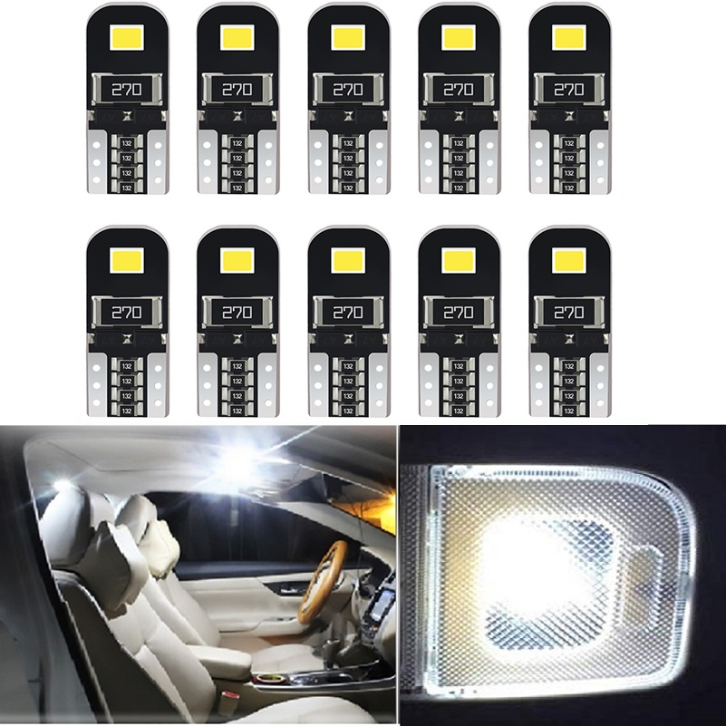 10Pcs W5W T10 LED Canbus Bulbs 168 194 LED Car Interior Lights For <font><b>Hyundai</b></font> i30 IX35 Accent Elantra Solaris <font><b>Santa</b></font> <font><b>Fe</b></font> i20 Tucson image