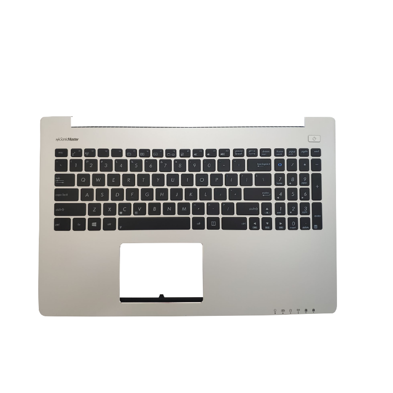 Upper Top Case US Laptop Keyboard For ASUS S500 S500CA S500CC S500CA-1A Silver C PalmRest 90NB0061 R3US00 13NB0061AM0121 KB