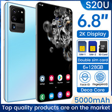 S20U 6,8-zoll Ultra-dünne Handy 6,8 zoll HD + Wasser Tropfen Bildschirm 12G 512G Mobile telefon 4G/5G Internet Smartphones