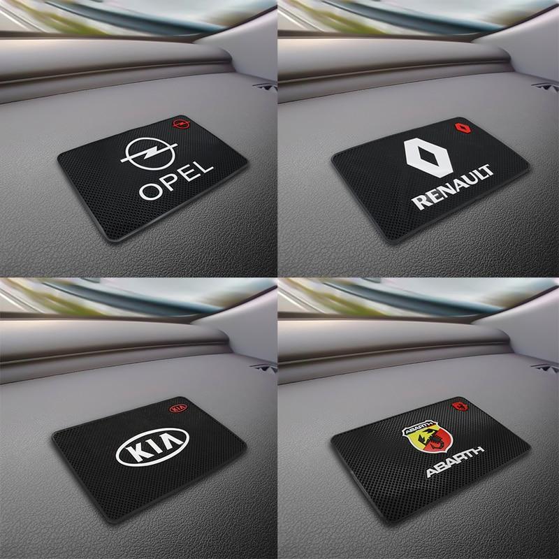 Car Logo Anti Slip Mat Phone Holder Non-Slip Mat Non Slip Pad FOR BMW Audi Mercedes Hyundai Honda Toyota Kia Ford Lexus Renault