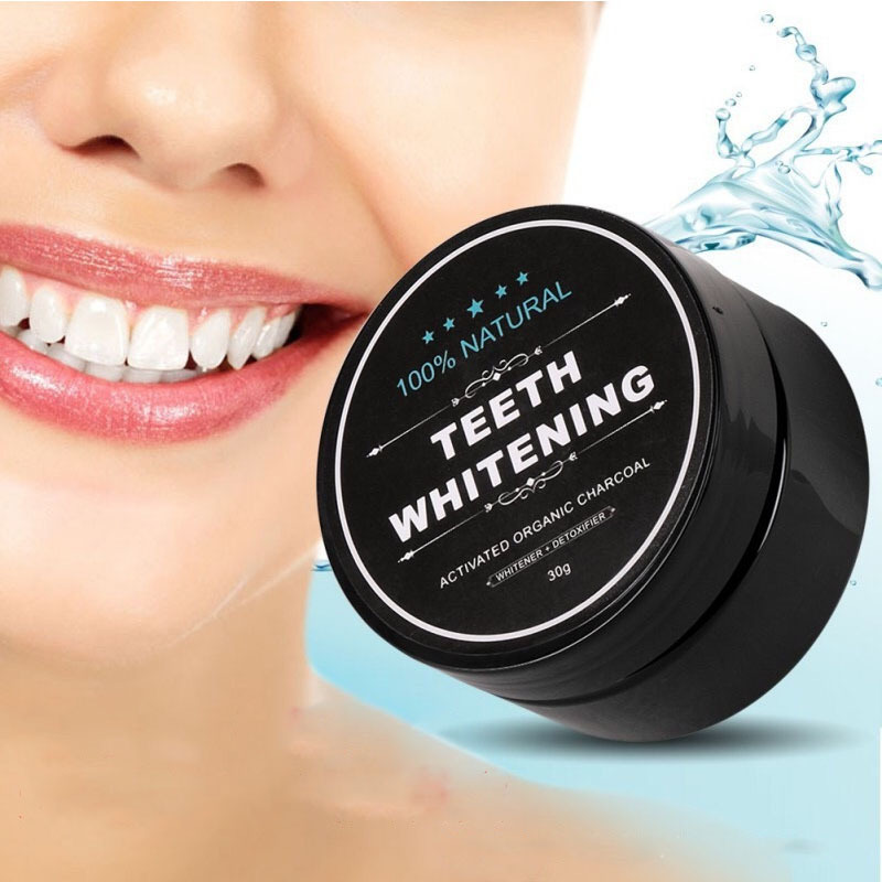 30g Teeth Whitening Powder Premium Activated Bamboo Charcoal Powder Scaling Powder Smoke Coffee Tea Stain Remove Oral Hygiene