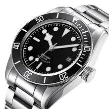 Corgeut 41mm Brand Luxury Men Watch Stainless SteelDiver