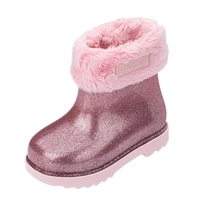 Mini Melissa Children Boots Girls Sequins Cotton Baby Warm Shoes Student Girl Snow Boots Cotton Princess Boots Kids Sneakers