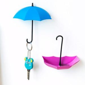 3 шт./лот Многофункциональная вешалка для ключей в форме зонта домашний декоративный держатель настенные крючки для кухни аксессуары для ва...