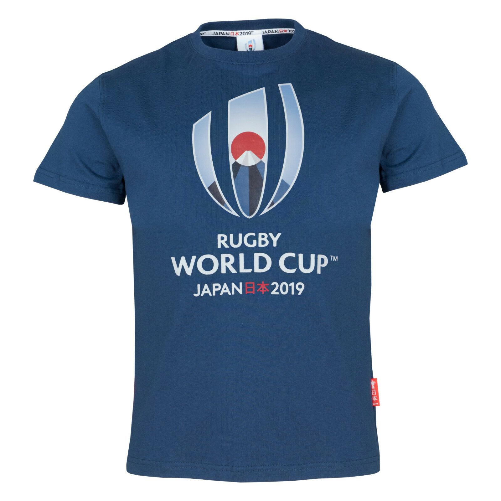 Rugby World 2019 Mens Logo T-Shirt Navy