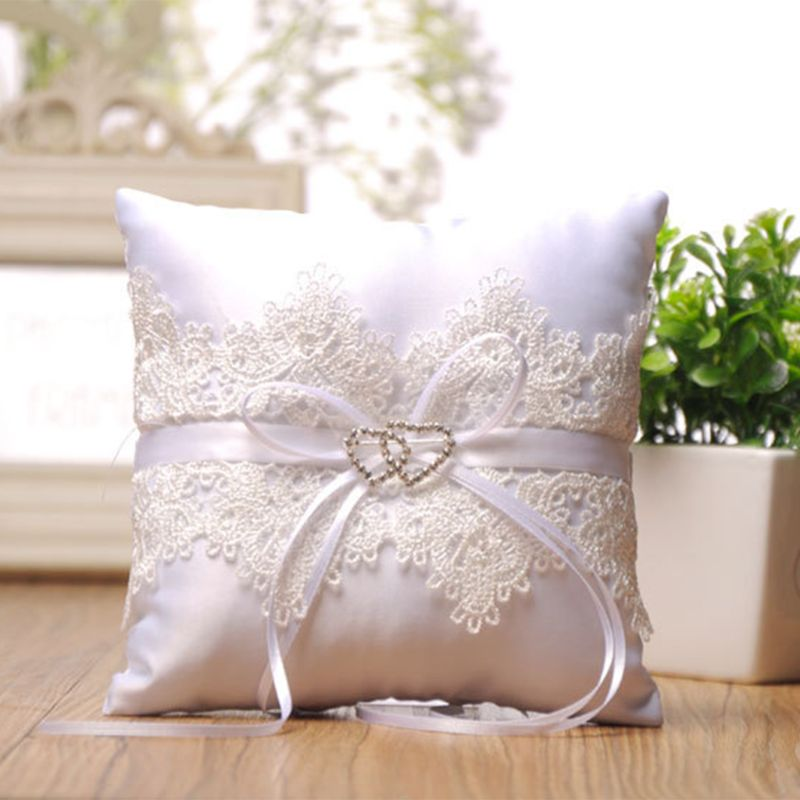 Lace Pearl Wedding Ring Pillow Ivory Cushion Bearer For Beach Wedding,Wedding Supplies