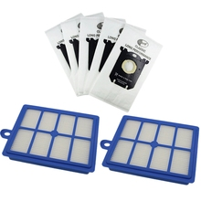 7Pcs/Set Vacuum Cleaner Dust Bags S-Bag and Hepa Filter for Philips Electrolux Cleaner беговая дорожка dfc stella t 1000